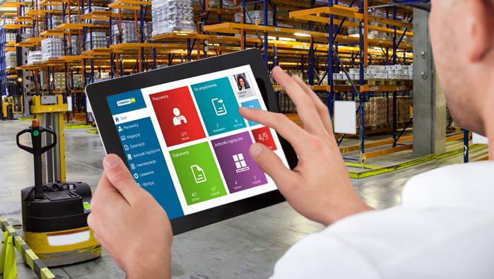 WMS zarządzanie  działa na tabletach i przenosnych urządzenia jak kolektory danych