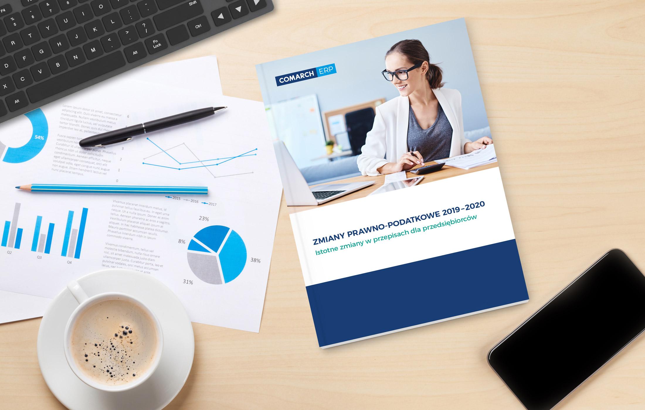 e-book okładka pdf zmiany prawne i podatkowe w 2019 - 2020