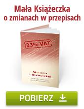 Zmiana VAT.